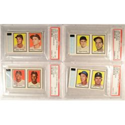 4-1962 Topps Stamps Panel PSA Graded