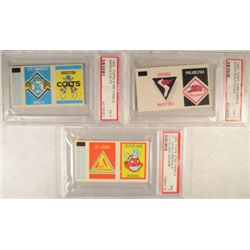 3-1962 Topps Stamp Panels PSA Graded