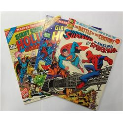 3-Vintage Treasury Size DC/Marvel Comic's, Superman vs Spider-Man plus others