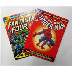 Vintage Spider-Man Fantastic Four Treasury Edition Comics (70's)