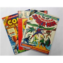 1970's Spider-Man, Wonder Woman, and Conan Treasury Edition Comics