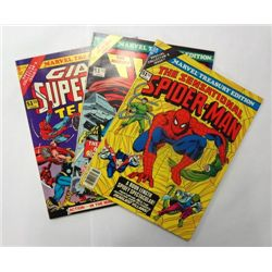 3-Vintage Marvel Treasury Edition Comics, Spider-Man, Thor, Giant Superhero