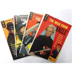 4-Vintage Gold Key Comics, The Man from UNCLE, The Green Hornet