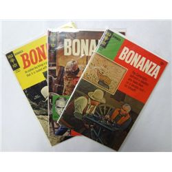 3-Gold Key BONANZA Comic Books 1960's