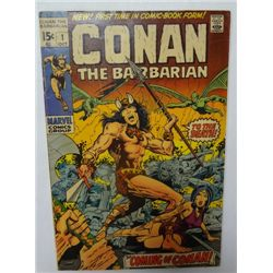 1970 #1 Conan the Barbarian Comic Book, Barry Smith Art