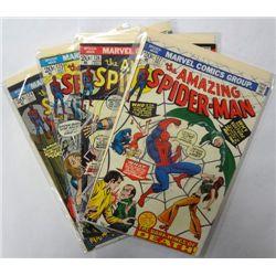 4-1973 the Amazing Spider-Man comic lot