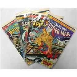4-1974 the Amazing Spider-Man Comic Lot