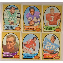 100  -  1970 Topps Football Cards.  Nice EM-NM.