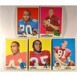 100  -  1969 Topps Football Cards.  Mostly EM-EX.
