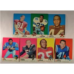 100  -  1969 Topps Football Cards - Mostly EX.
