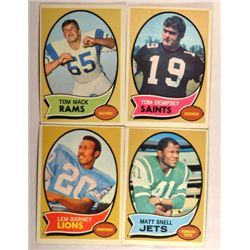 100  -  1970 Topps Football Cards - Mostly EX or Better.