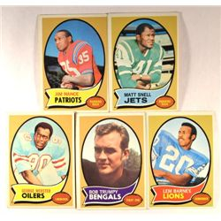 100  -  1970 Topps Football Cards.  EX or Better.