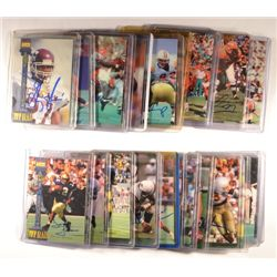 24  -  1994 Signature Rookies Autographed Football Cards.  All NM-MT.