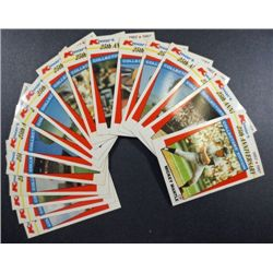 17 Misc. 1987 Kmart Cards 25th Ann.  Including Stargell, Clemente, Jim Rice,