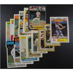 24 Baseball Stars and Rookies from 1986-87 including R Jackson 86 Fleer,