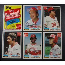 20-22   1982 Baseball Coca Cola Cincinnati Reds set including Bench, Seaver.