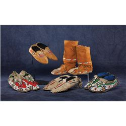 5 Pair of Moccasins