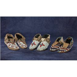 Collection of 3 Pair of Moccasins