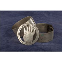 Southern Plains German Silver Arm Bands and Bolo
