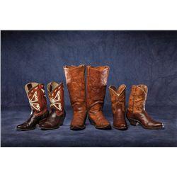 Three Pair Vintage Cowboy Boots