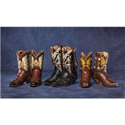 Three Pair Cowboy Boots