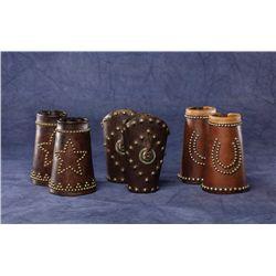 Three Pair Studded Cowboy Cuffs