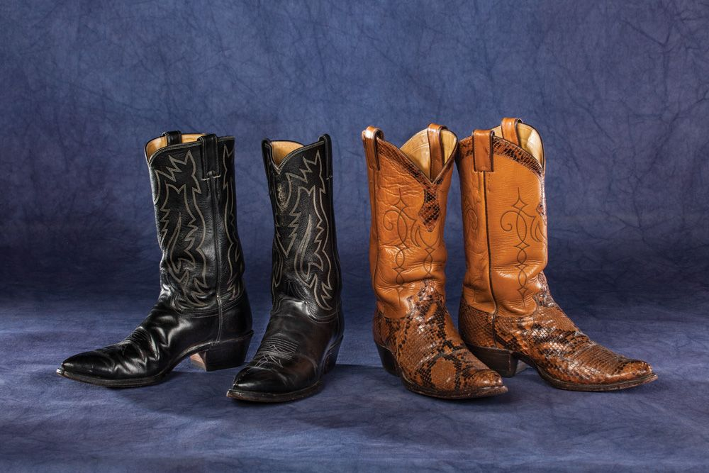 e6e7b27d8 Clayton Moore's Justin Cowboy Boots from his Personal Wardrobe