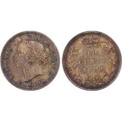 Canada 1880H 10c PCGS MS62