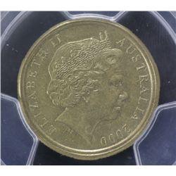 2000 $ Mule PCGS AU 55