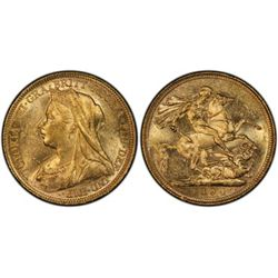 1894 S Sovereign PCGS MS61