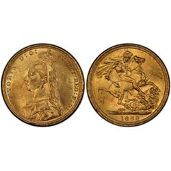 1889 S Sovereign PCGS MS61