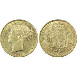 1885 M Sovereign PCGS MS62