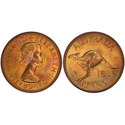 Australia 1959 Perth Penny PCGS PR66 Red