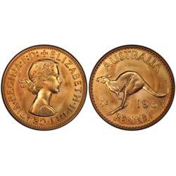 Australia 1963 Penny & Halfpenny Pair PCGS PR 66 Red