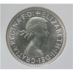 Australia Shilling 1962 NGC PR 66