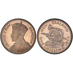 New Zealand 1935 Shilling PCGS PR65