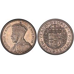 New Zealand 1935 ½ Crown PCGS PR 64