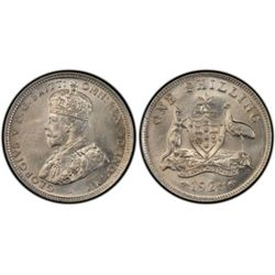 1925/3 Overdate Shilling PCGS MS63