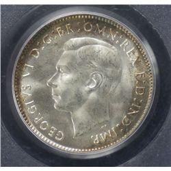1943 D Sixpence PCGS MS64
