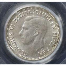 1949 Threepence PCGS MS64