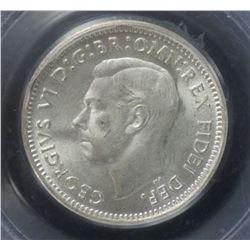 1951pl Threepence PCGS MS65