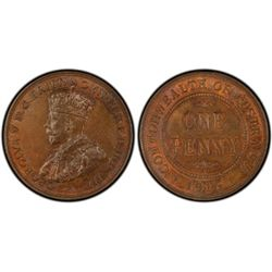 1916 Halfpenny & Penny MS64 Brown