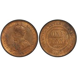 1925 Penny Penny PCGS MS 62 Brown