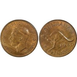 1940 Penny KG Penny MS63 Red & Brown