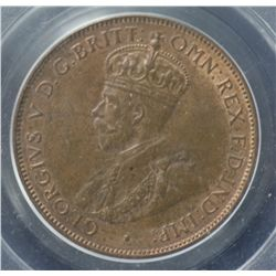 1932 Halfpenny PCGS MS64 Red & Brown