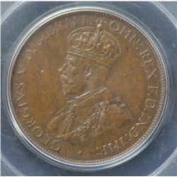 1935 Halfpenny PCGS MS64 Brown