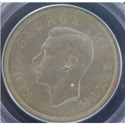 New Zealand 1951 ½ Crown PCGS MS 64