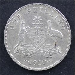 1910 Shilling Extremely Fine