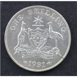 1931 Shilling Extremely Fine
