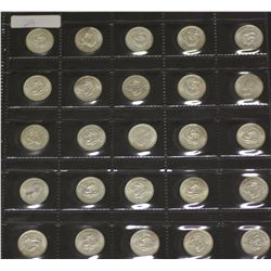 Lot of Shillings 1942 to 1963 Complete